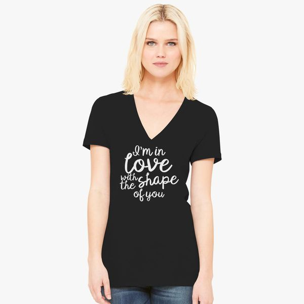 e1b18d09591c14 Shape of You Ed Sheeran Women s V-Neck T-shirt - Customon