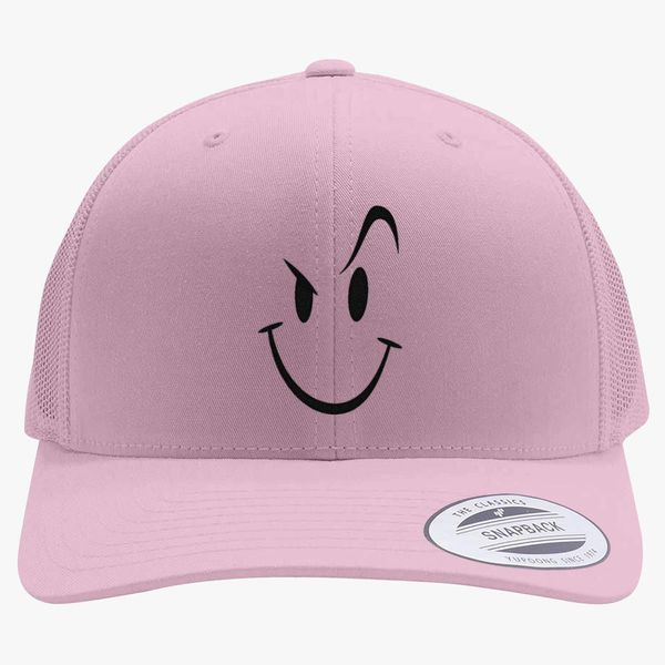 88c223c09a613 Naughty Smiley Bad Boy Face Retro Trucker Hat (Embroidered ...