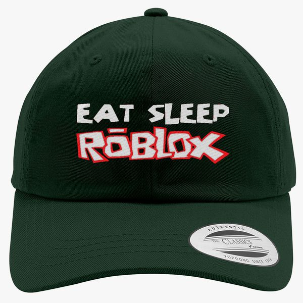 Eat Sleep Roblox Cotton Twill Hat Embroidered Customon