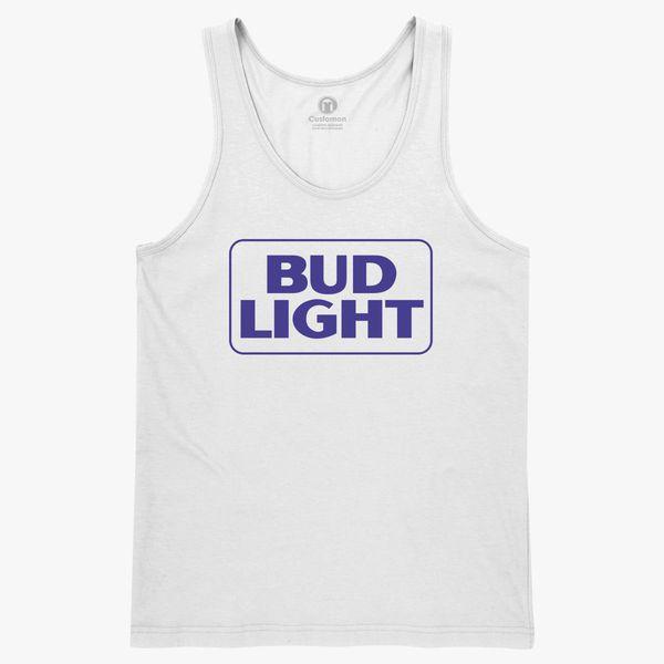 Men/'s Bud Light Tank Top Grey