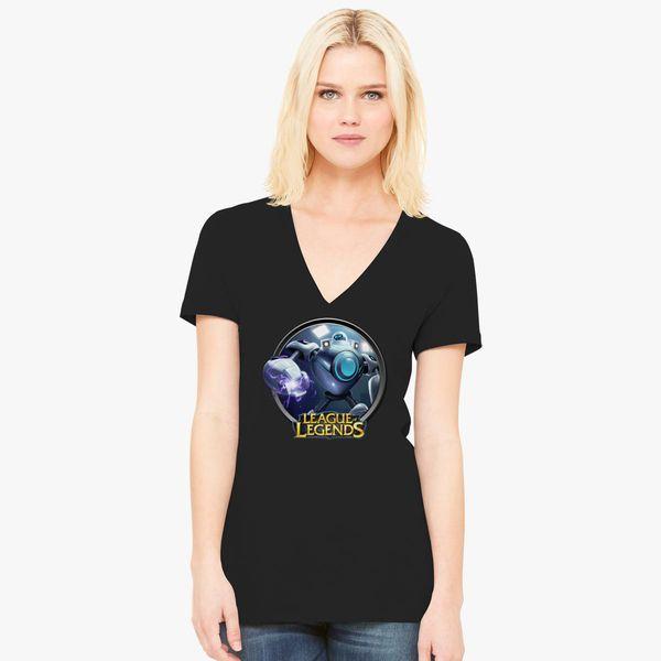 4712fda78d73 LoL League of Legends Blitzcrank Women's V-Neck T-shirt - Customon