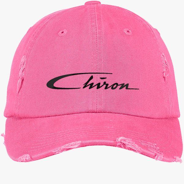 f4a6d38a Chiron Logo Distressed Cotton Twill Cap (Embroidered) - Customon