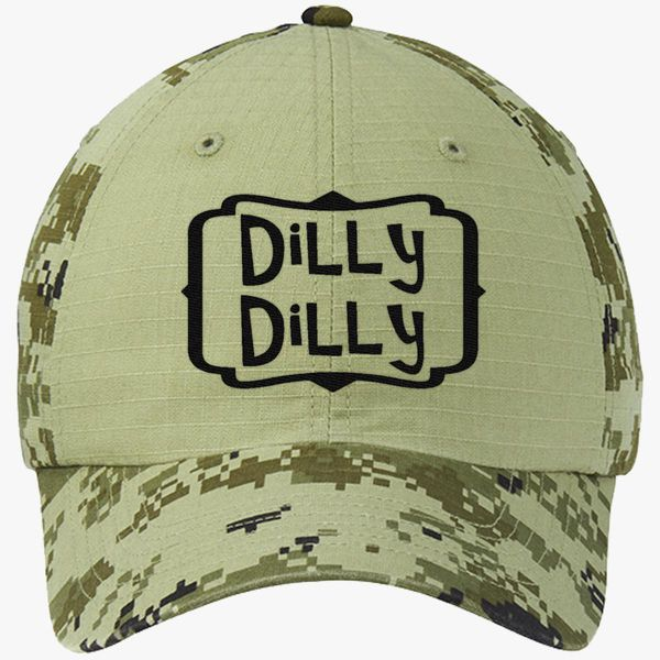 7c36f1e4 dilly dilly Colorblock Camouflage Cotton Twill Cap (Embroidered ...