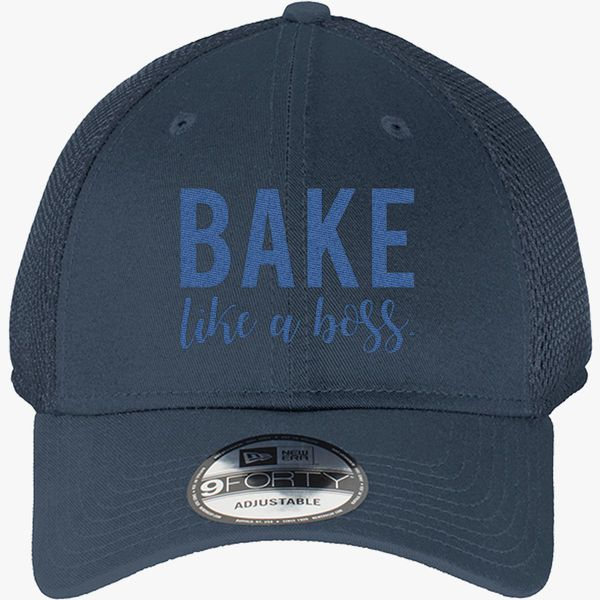 45751878d7fd6 Bake Like A Boss New Era Baseball Mesh Cap (Embroidered ...