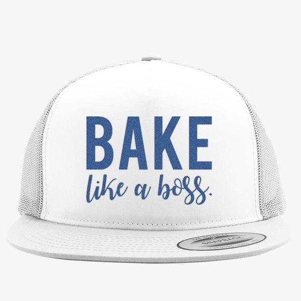 30706d6e4682f Bake Like A Boss Trucker Hat (Embroidered) - Customon