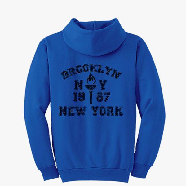 d25d85245 BROOKLYN-NEW-YORK Unisex Zip-Up Hoodie - Customon