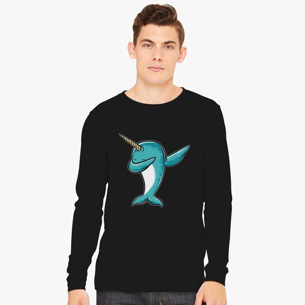 3c712e47 Funny Narwhal Dab, Dabbing Narwhal Long Sleeve T-shirt - Customon