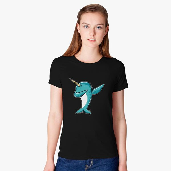 7d1e1577 Funny Narwhal Dab, Dabbing Narwhal Women's T-shirt - Customon