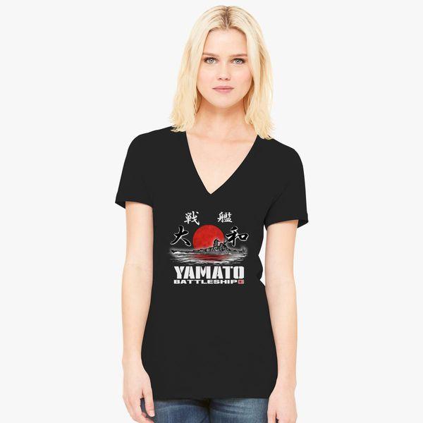 b0b81d02f Battleship Yamato Women's V-Neck T-shirt - Customon