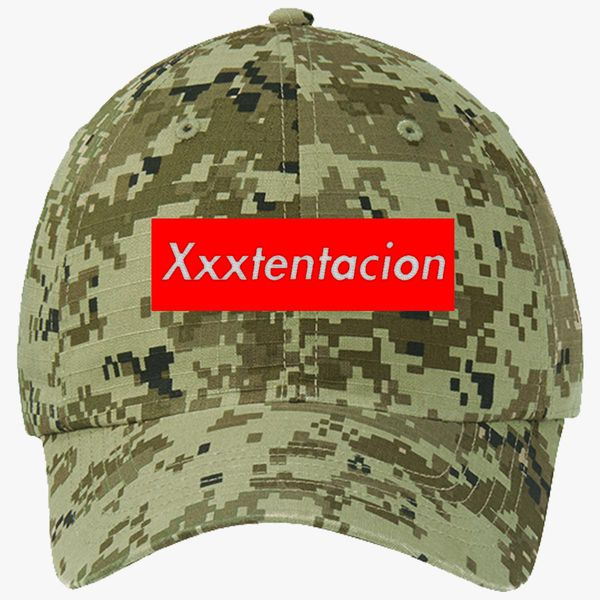 703ae163a18 xxxtentacion Ripstop Camouflage Cotton Twill Cap (Embroidered ...