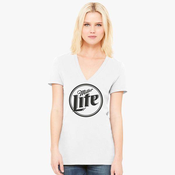 c74390a844 Miller Lite Women's V-Neck T-shirt - Customon