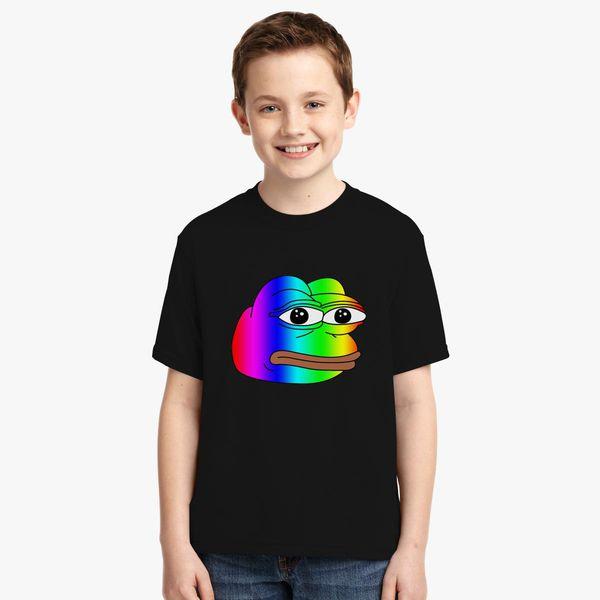 0625e13e956 Pepe Meme Frog Rainbow Youth T-shirt - Customon