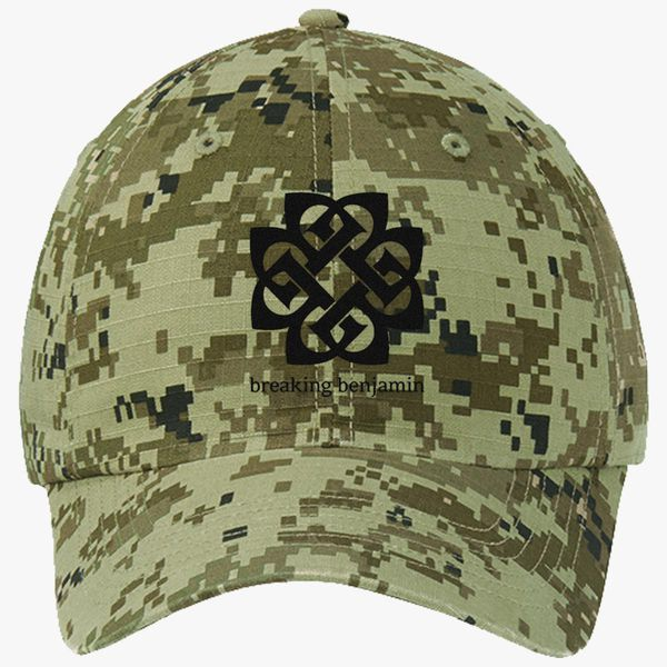ef306e29e9b Breaking Benjamin Ripstop Camouflage Cotton Twill Cap (Embroidered ...