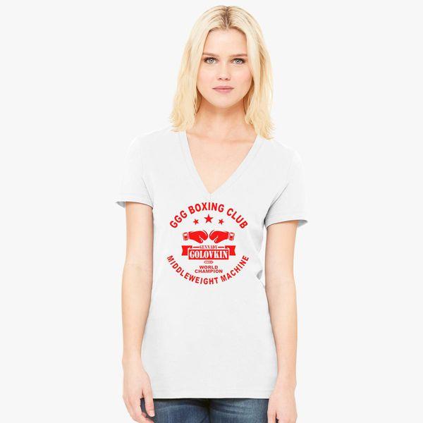 d11d51b4 Gennady Golovkin GGG Boxing Club Women's V-Neck T-shirt ...