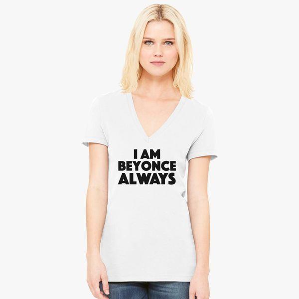 0ee32e711 Michael Scott - The Office - I am Beyonce Always Women's V-Neck T-shirt