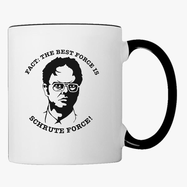 7efac018 ... Dwight Schrute Black And White: Dwight Schrute Fact Coffee Mug