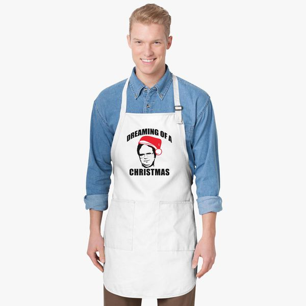 Dwight Schrute Dreaming Of A Christmas Apron Customoncom