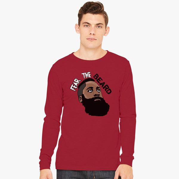 ed3a744cb3e6 James Harden Fear The Beard Long Sleeve T-shirt - Customon