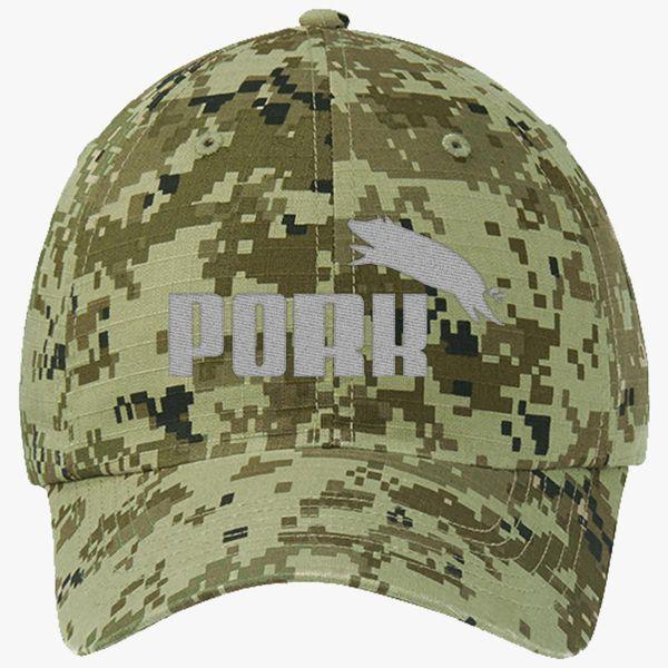 3c58312c Pork Puma Ripstop Camouflage Cotton Twill Cap (Embroidered ...