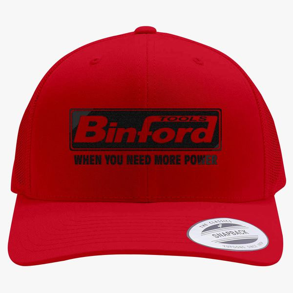 e0c83d3c260dd Binford Tools When You Need Power Retro Trucker Hat (Embroidered) - Customon