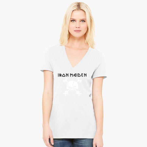 20827f47 Iron Maiden The Final Frontier Women's V-Neck T-shirt - Customon