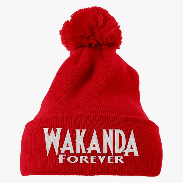 c2938beba Wakanda Forever Knit Pom Cap (Embroidered) - Customon