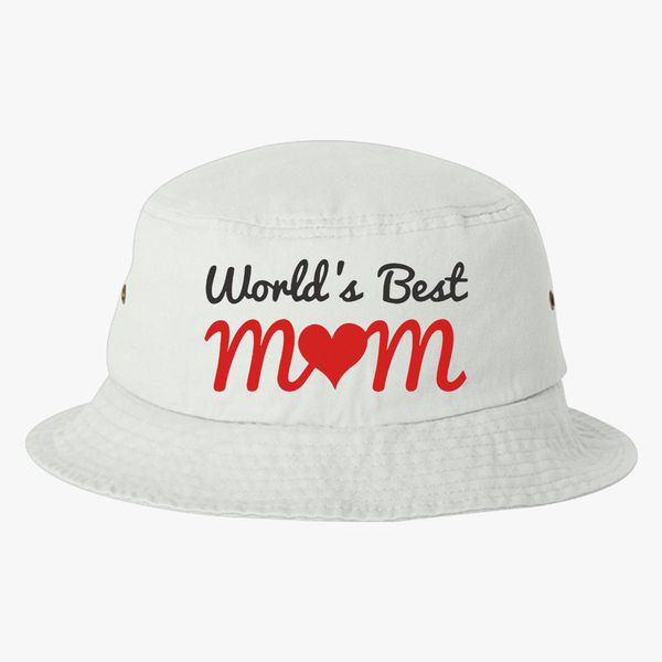 dd9ca6daee4 world s best mum Bucket Hat (Embroidered) - Customon