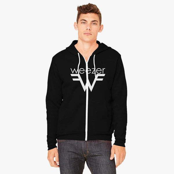 20ec1bb80 Weezer Logo Unisex Zip-Up Hoodie - Customon