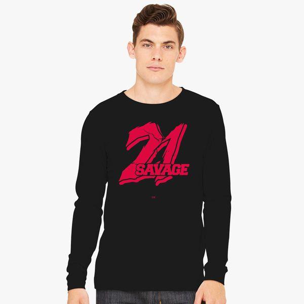 21 Savage Long Sleeve T Shirt Customon