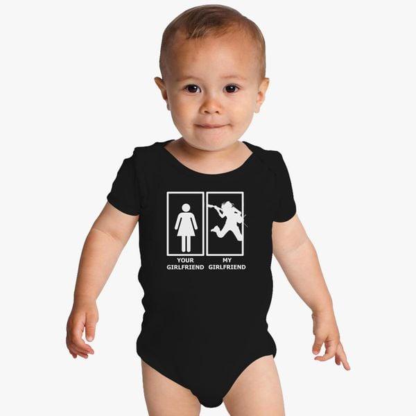 Custom Baby Bodysuit Ukrainian American Funny Cotton Boy /& Girl Baby Clothes