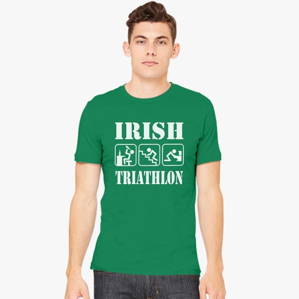 Triathlon Sport Humor Tshirt Triathlon Evolution in Cotone Evolution
