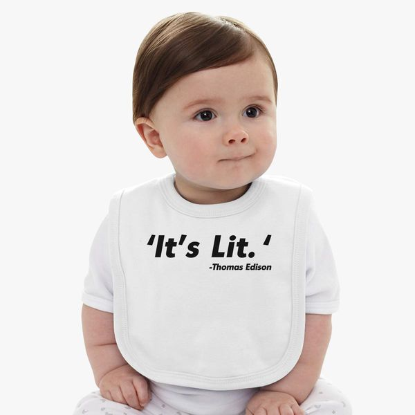 It's Lit thomas edison Baby Bib - Customon