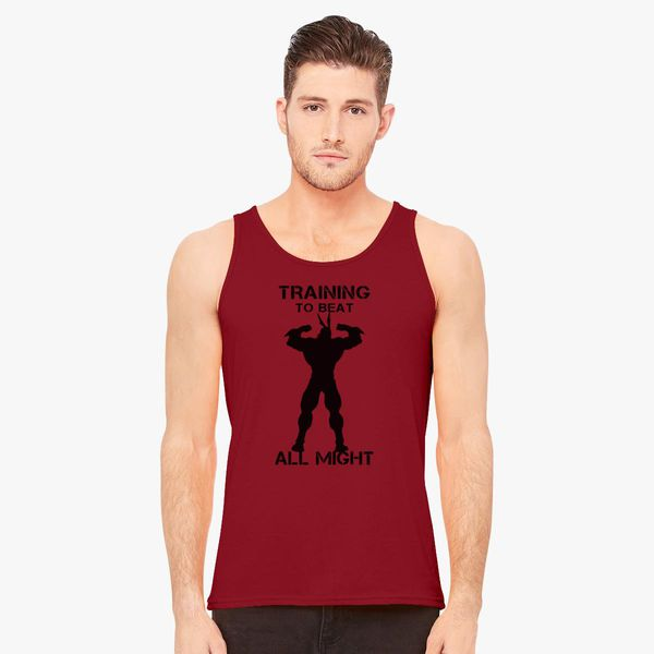 de43f746770a6 My Hero Academia training to beat all might Men s Tank Top - Customon