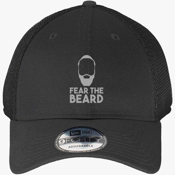 Fear The Beard New Era Baseball Mesh Cap Embroidered