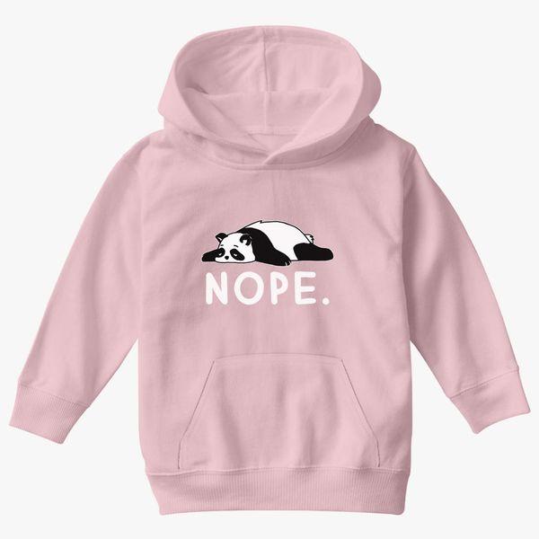 Gildan Hoodie Sweatshirt Nope Nope Not Today Funny Lazy Panda