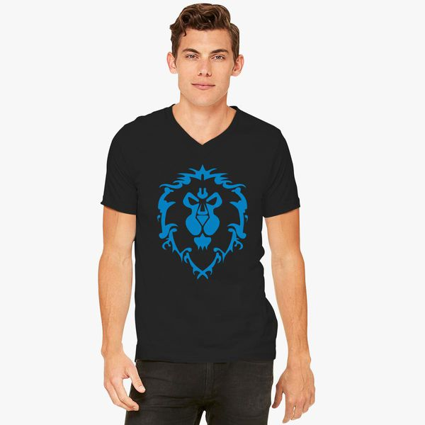 ef8c31163 World of Warcraft Alliance Logo V-Neck T-shirt - Customon