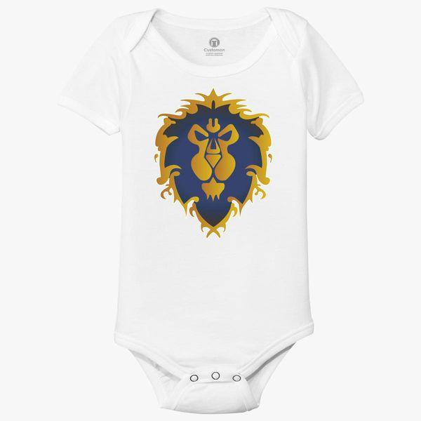 583a51f19 World of Warcraft Alliance Baby Onesies - Customon