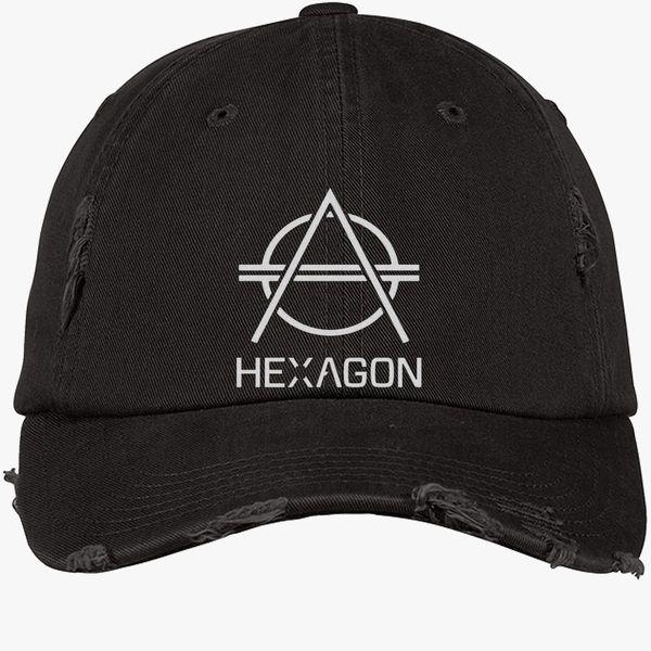 5e114e22e7c504 hexagon Don Diablo Distressed Cotton Twill Cap (Embroidered ...