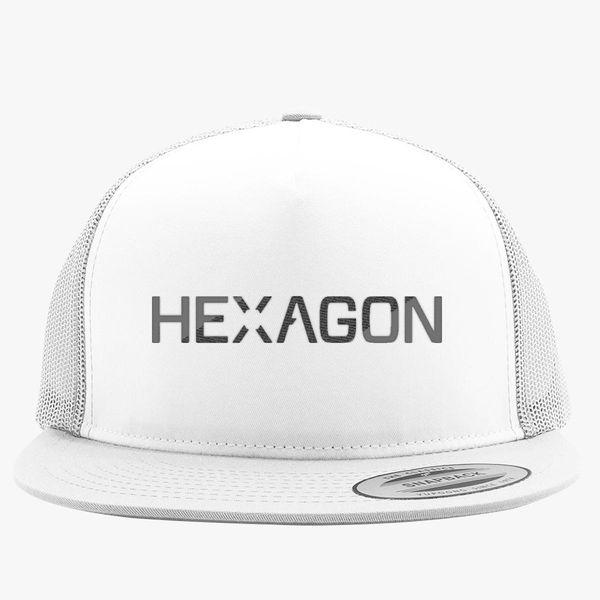 da807e7133b12e hexagon Trucker Hat (Embroidered) - Customon