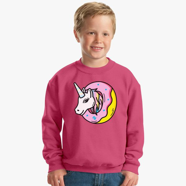 41520e244870 Donut Unicorn Kids Sweatshirt - Customon