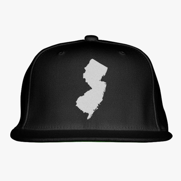 a1f4354876d NJ Map Snapback Hat (Embroidered) - Customon