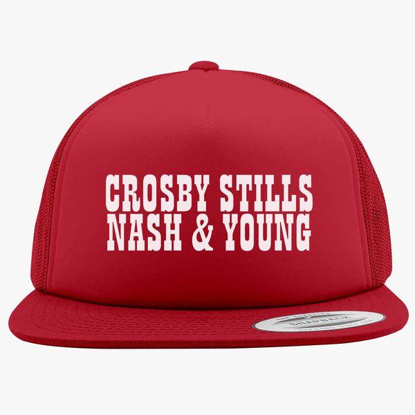 55a792474b987 Crosby Stills and Nash Foam Trucker Hat - Customon