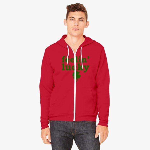 Lucky 13 Red Adult Hoodie