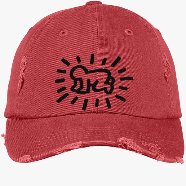 5f4547eeeb9 Baby Keith Haring Distressed Cotton Twill Cap - Embroidery +more
