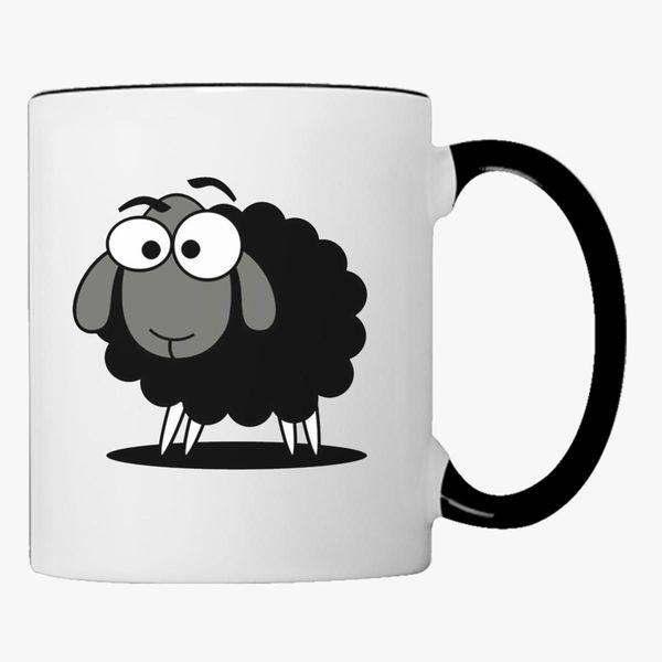 Black Sheep Cartoon Coffee Mug - Customon