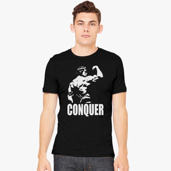 c84a414ed97f8 CONQUER Arnold Back Men s T-shirt - Customon