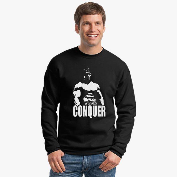 b6263bd9d03297 Conquer Arnold Schwarzenegger Crewneck Sweatshirt - Customon