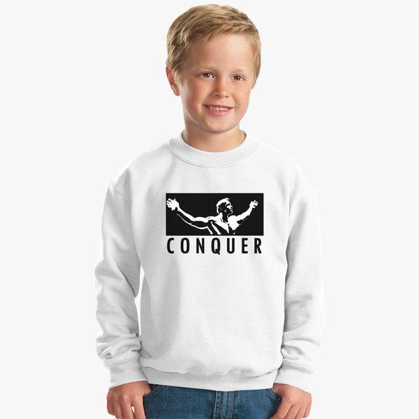 ce1f957234b059 Arnold Schwarzenegger Conquer Kids Sweatshirt - Customon