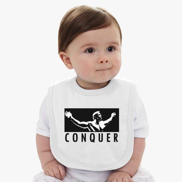 445ffe842f039a Arnold Schwarzenegger Conquer Baby Bib - Customon