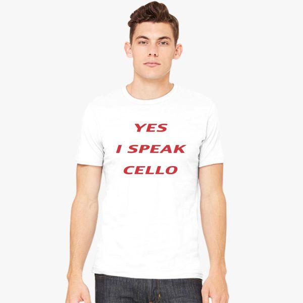 4f206b80a18 speak-cello Men s T-shirt - Customon.com